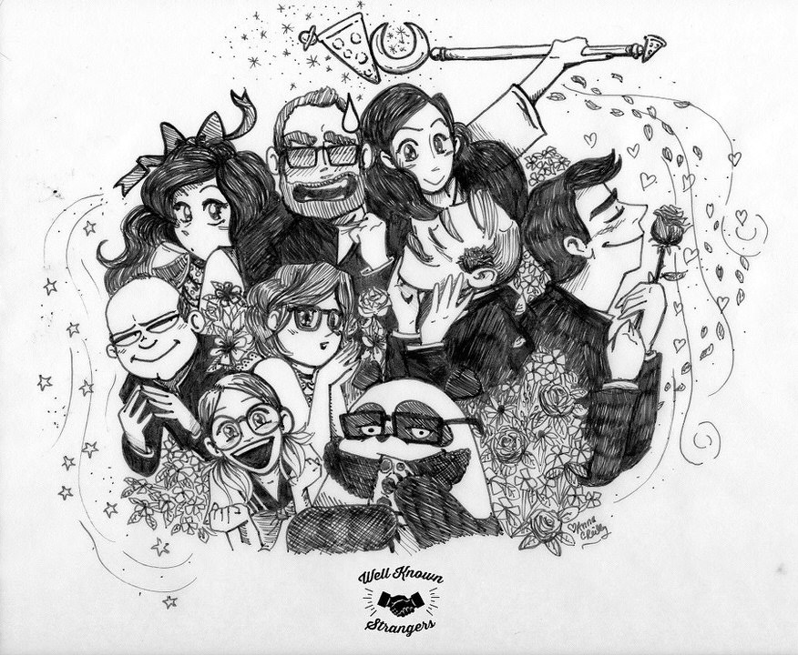 Well Known Anime: Ben, Stacey, Alex, Regina, Franz, Mindy, Connor, Alistair, w/ Dave in Panda Form